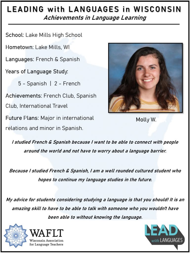 Molly W Lake Mills Leads with Languages
